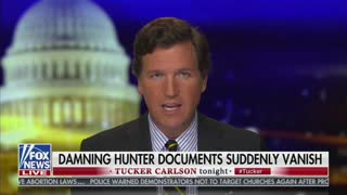 Tucker Carlson Reveals Damning Hunter Biden Docs Mysteriously Vanished in Transit