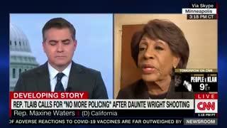 "Rep. Maxine Waters Endorses ""No More Policing"""