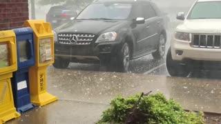 Parked Carolina Cars Get Pummeled