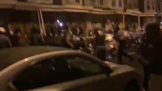 Philadelphia Riots. Police skirmish with rioters