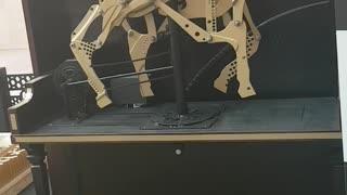 Wood made horse in dubai mall