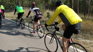 Riding with the JRCS group