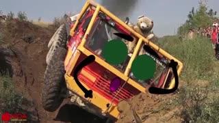 Off Road Truck Mud Race _ Extrem off road 8X8 Truck Tatra - Woa Doodles Funny Videos (360p)