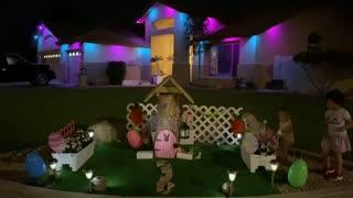 Nice happy easter family settlement