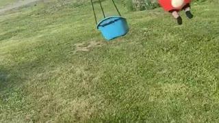 Horse Walker Makes Great Kiddy Swing