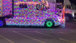 Semi Decked Out with Christmas Lights