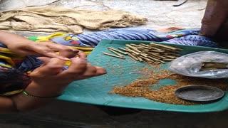Small cigarette (beedi)making small scale business india