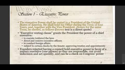 US Constitution, Article II explained