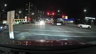 Red Light Runner Gets Instant Karma