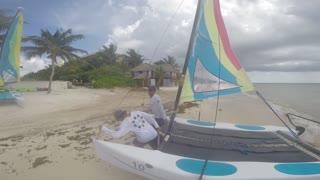 mini catamaran in mexico