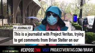Project Veritas Asks Brian Stelter Questions About His Network's Propaganda Narrative