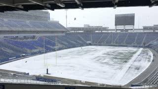 Snowing at UK Stadium