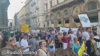 Milan Large anti-fascism demonstration