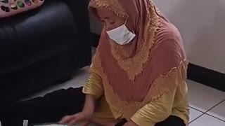 Baby Learns How To Fold Clothes