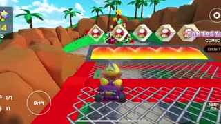 Mario Kart Tour - Clearing Rosalina Cup Challenge Combo Attack Gameplay (Winter Tour)