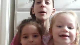 My girls singing Jesus's love