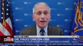Fauci Admits He Wore Mask Indoors After Vaccination for Political Theater