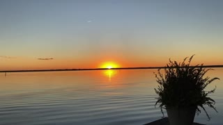 Winter Lake Sunset
