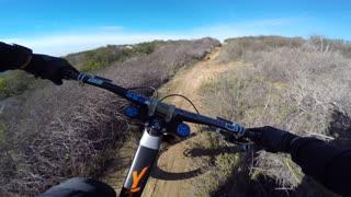 Speedy Cyclist Hauls Through California Hills