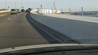 Driving over the Bay Bridge