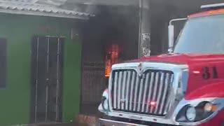 Conflagración en Barranquilla