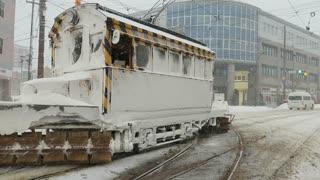 Tram Snow remover in Hakodate