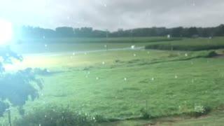 Rain Storm Lightning Strike