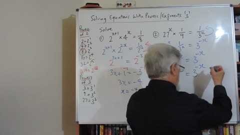 Math Equation Set C 03 With Index Laws ie Exponents