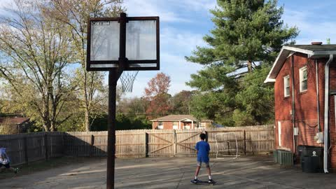 Basketball Trick Shot