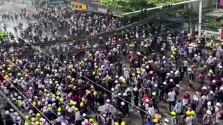 Myanmar protesters continue to occupy streets