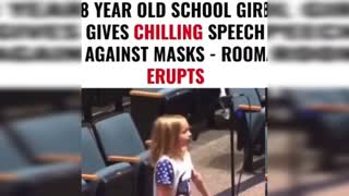 8 year old School Girl gives Chilling Speech about mask Mandates to School board