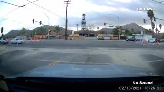 Vehicle Loses Control and Nearly Crashes