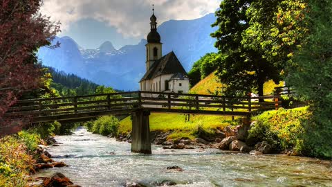 Relax Library Video 73. River Flowing Down From The Mountains.