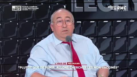 """Emmanuel Lechypre dérape en direct : """"On vous vaccinera de force !"""""""