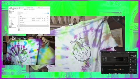 Homemade Tie Die Screenprinted T-Shirts