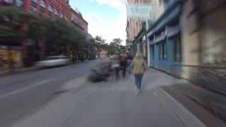 Awesome Time Lapse Video of People Walking on Sidewalks.