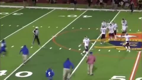 Texas high school football player plows over a referee