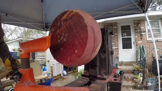 Woodturning-Hollowing out Eastern Cedar