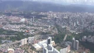 Vídeo Helicóptero Bucaramanga desde el aire