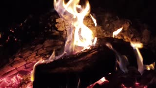 Relaxing around the fire