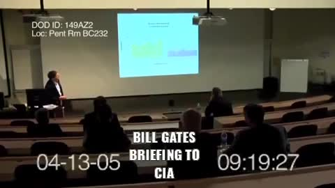 Leaked video of Bill Gates from 2005. Must watch....scary stuff