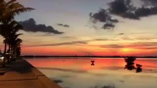 A stunning West sunset