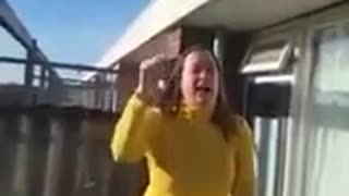 Neighbours fight over a barbecue
