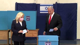 Netanyahu votes in Israel's election