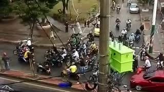 Avanza jornada de paro de motos en Bucaramanga
