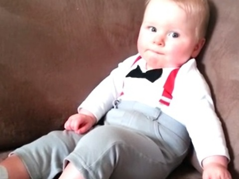 Baby Boy Tries to Copy Mom, Fails Adorably